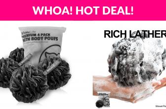 4-Pack Shower Puff Hot Deal