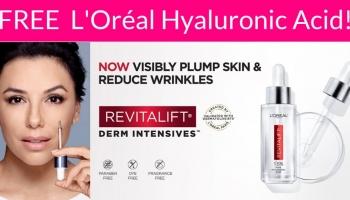 Free sample of L'Oréal Hyaluronic Acid Serum!