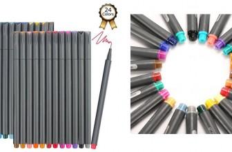 GO! NOW! GO! 24 Colors Fine Tip Pen SET ONLY $5.99 SHIPPED!
