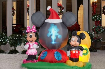 Win a Mickey & Minnie Christmas Inflatable!