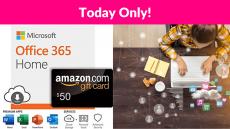 Microsoft Office 365 Home + $50 Amazon Gift Card