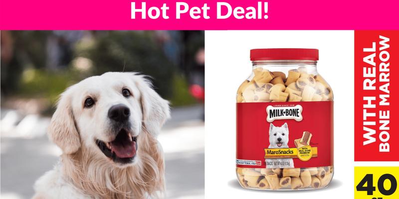 41% OFF! Milk-Bone MaroSnacks Dog Treats with Real Bone Marrow and Calcium