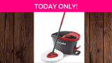 45% Off O-Cedar EasyWring Microfiber Spin Mop, Bucket Floor Cleaning System