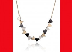 Geometric Triangular Necklace ONLY $3.27 SHIPPED!