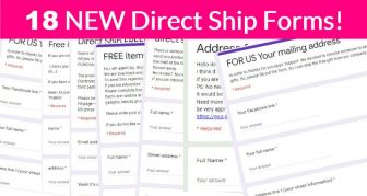 Oh – My – GOODNESS! 18 NEW Direct Ship Freebie Forms!