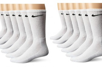 SIX Pairs of Nike White Crew Socks for just $11.99!