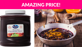 Huge Ocean Spray Whole Cranberry Sauce, Resealable Container!