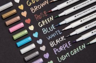 SET of 10  Metallic Brush Marker Pens $3.99 SHIPPED!