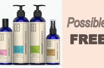 Get Possible FREE Skin Care Products!