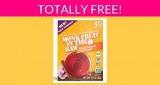 Free Monk Fruit Zero Calorie Sweetener!