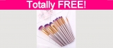 Free Professional Makeup Brushes!