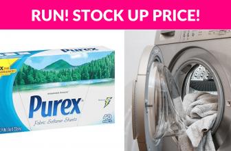 RUN! Purex Fabric Softener Dryer Sheets, 40ct