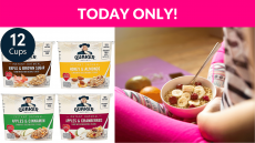 35% OFF! Quaker Instant Oatmeal Express Cups