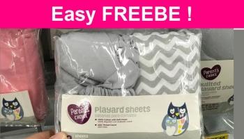 Easy Freebie – FREE Quilted Playard Sheet !