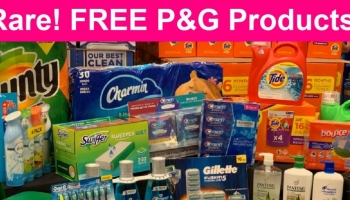 SUPER Rare! Free P & G Products, coupons & MORE!