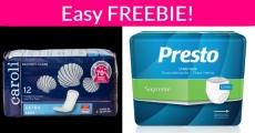 Easy Freebie! FREE Sample of Pads, Underwear or Guard!