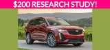 Free $200 Vehicle Research Study!