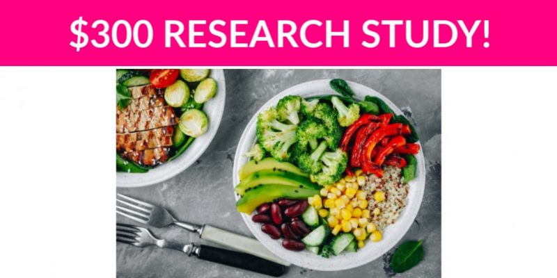$300 Food Research Study!
