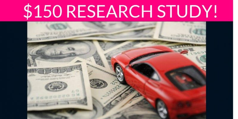 Free $150 Car Purchasing Research Study!