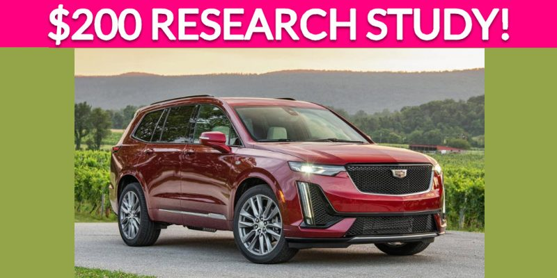 Free $200 Vehicle Research Study!