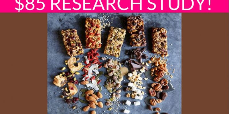 Free $85 Eating Habits Research Study