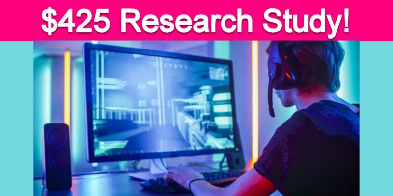 Free $425 Gaming Research Study!