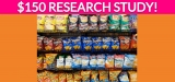 Free $150 Research Study on Snacks!