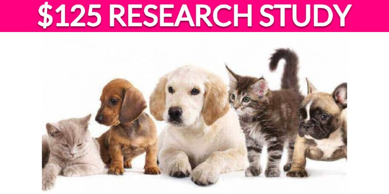 Free $125 Pet Research Study!