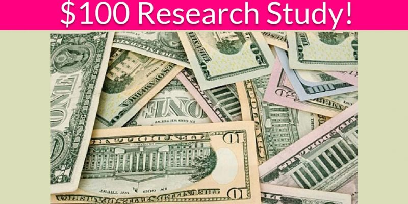 Free $100 Food Research Study!
