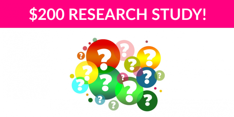Free $200 Online Panel Research Study!