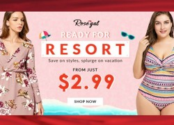 Just $2.99!  Get ready for resort wear in the new season!
