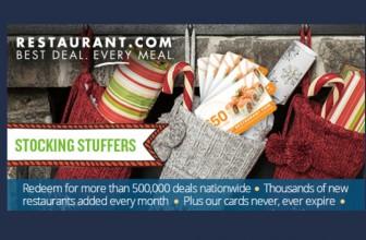 Get a (5) $25 Restaurant Gift Card Bundle for $24