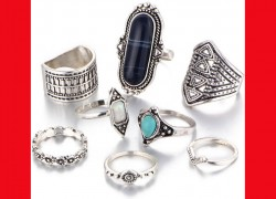 8 Piece Complete Ring set ONLY $2.09 & FREE Shipping!