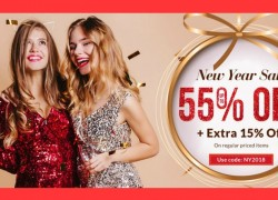 New Year Sale! Up to 55% OFF and Enjoy Extra 15% OFF