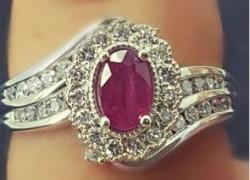 Win a 14K White Gold Diamond & Ruby Ring!