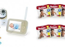 ENTER TO WIN a Baby Monitor + 6 Months Supply of Huggies Diapers [$495 Value]