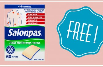 FREE Salonpas Pain Relieving Patch