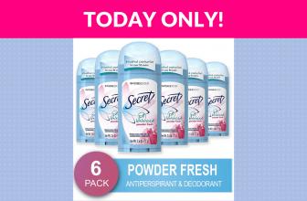 60% OFF! Secret Antiperspirant and Deodorant