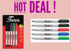 LOWEST PRICE EVER! 5 pack of Sharpies ONLY $2.54 !