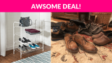 Honey-Can-Do Wire Shoe & Accessory Rack