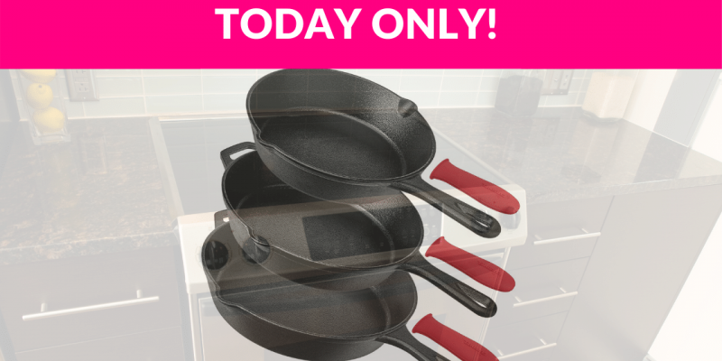 30% Off Pre-Seasoned Cast Iron Skillet 3pc Chef Set