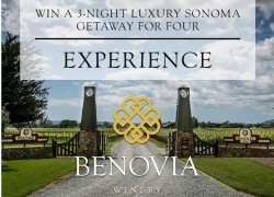 Win a Luxury Sonoma,CA Getaway for 4!!