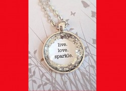 Live. Love. Sparkle. Necklace ONLY $2.56 SHIPPED!