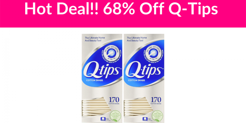 Hot Deal!! 68% Off Q-Tips