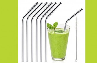 RUN ! ONLY 8 LEFT ! SET of 6 Stainless Steel Straws ONLY $3.99 !