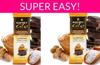 ⭐Easy! ⭐Totally FREE GLO Peanut Butter, Dark Chocolate & Sea Salt Bar.
