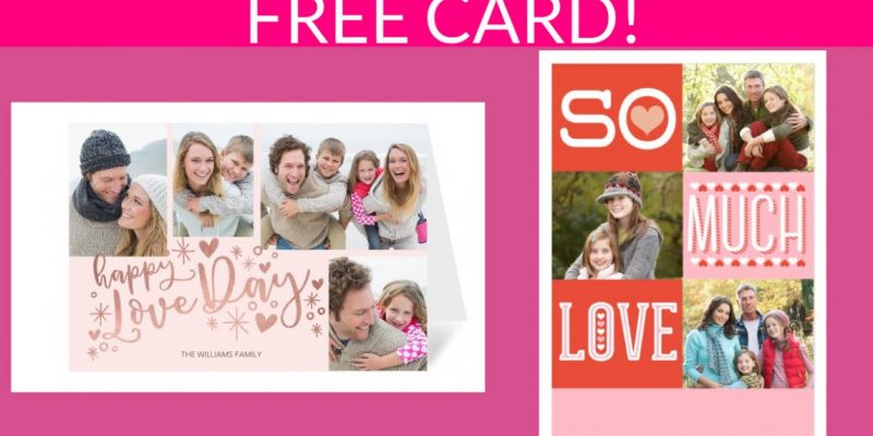 Totally Free Valentine's Day Photo Card!