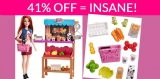 Save 41% Barbie Grocery Playset