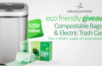 Win an Electric Trash Can & Compostable Bags!