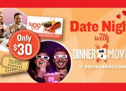 Date Night with Dinner and a Movie Deal Just in Time For Valentines!!!